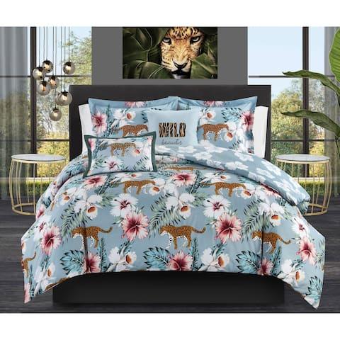 Chic Home Mariena 5 Piece Reversible Comforter Set Tropical Print