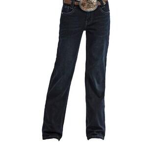 Cruel Girl Western Jeans Girls Lucy Slim Bootcut Dark Rinse