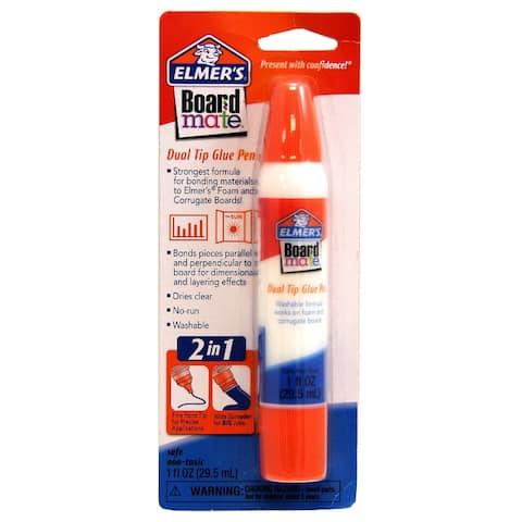 Elmer's E140 Board Mate Dual Tip 2-In-1 Applicator Glue Pen, 1 Oz