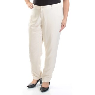 RALPH LAUREN $160 Womens New 1175 Ivory Straight leg Wear To Work Pants 16 B+B