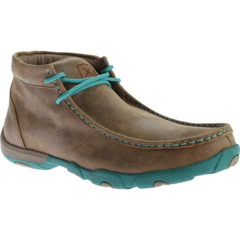 Twisted X Boots Women's WDM0020 Driving Moc Bomber/Turquoise Leather