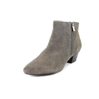 Alfani Sicilla Women Round Toe Suede Gray Ankle Boot