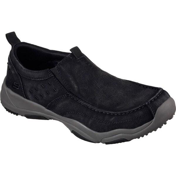 Skechers Larson Bolten Mens Slip On Loafers Black/Charcoal