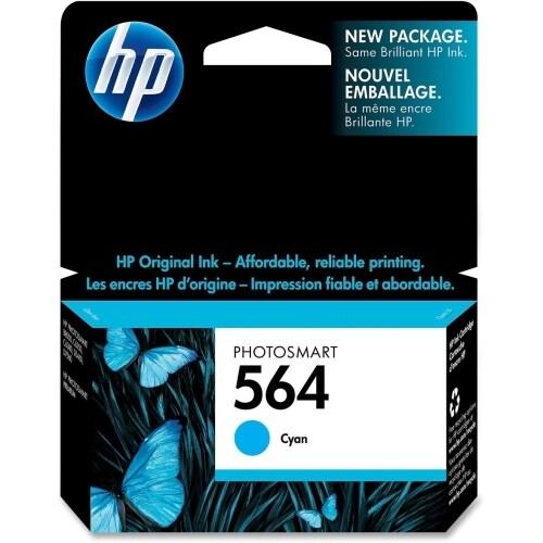 HP 564 Cyan Original Ink Cartridge (CB318WN)(Single Pack)