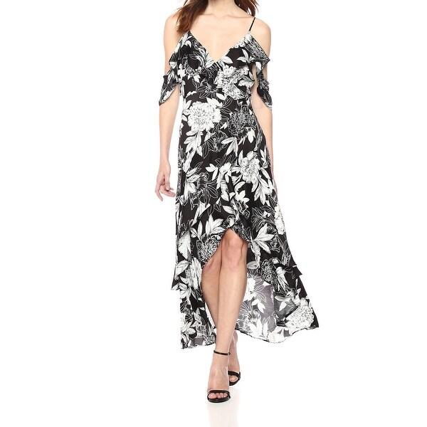 e8d5351c4fe Shop Bardot Black White Womens Size Medium M Floral Hi Low Maxi ...
