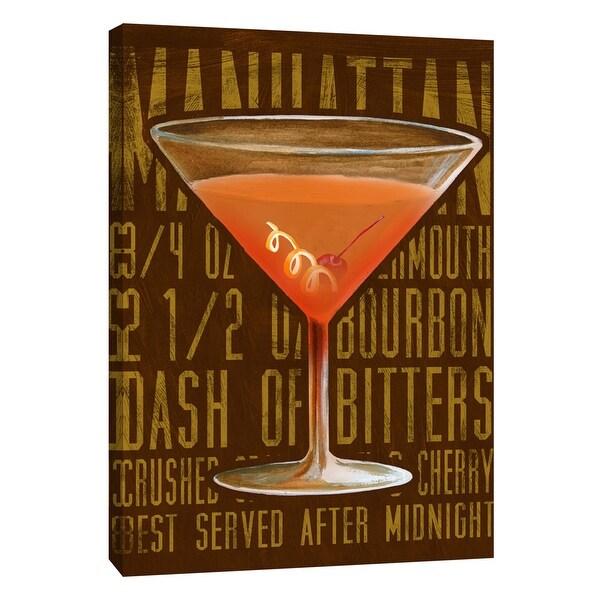 "PTM Images 9-108937 PTM Canvas Collection 10"" x 8"" - ""Manhattan (Vertical)"" Giclee Liquor & Cocktails Art Print on Canvas"
