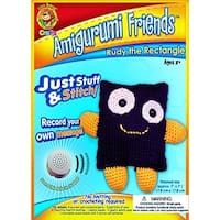 Lion Brand Yarn AFS1001-AM3 Amigurumi Friends with Sound Rudy The Rectangle Sewing Kit