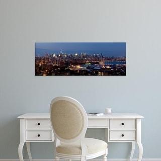 Easy Art Prints Panoramic Images's 'Manhattan skyline, New York City, New York State, USA' Premium Canvas Art