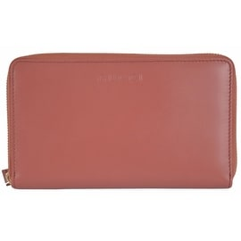 Gucci 321117 XL Salmon Pink Leather Zip Around Travel Coin Wallet Clutch