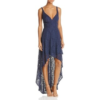Laundry by Shelli Segal Womens Evening Dress Lace Tiered