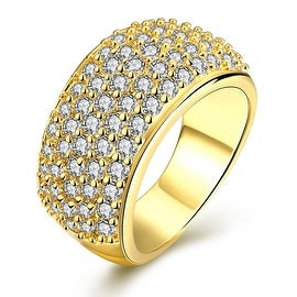 Classical Gold Pave' Ring