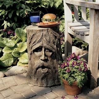 The Odin Tree Stump Sculptural Table DESIGN TOSCANO garden table outdoor table