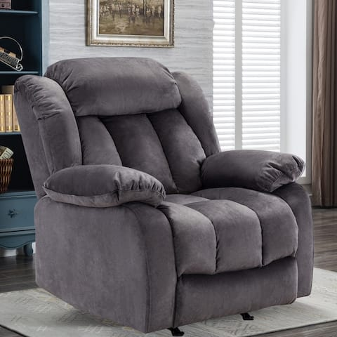 TiramisuBest single Deluxe fabric recliner for living room, bedroom