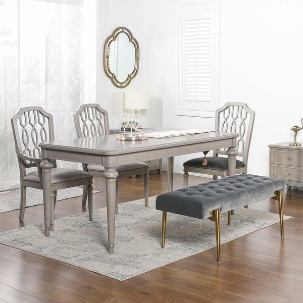 Jennifer Taylor Home Dauphin 71 Rectangular 6 Seater Dining Table Overstock 32162277