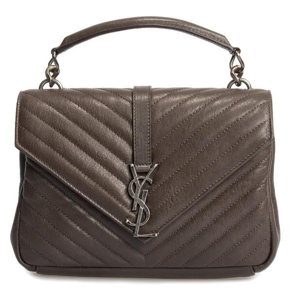 41358560215 Shop Saint Laurent Classic Medium College Bag In Brown Matelasse ...