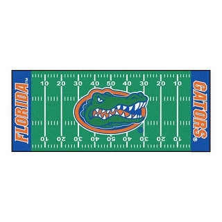 NCAA University of Florida Gators Football Field Runner Mat Area Rug - N/A