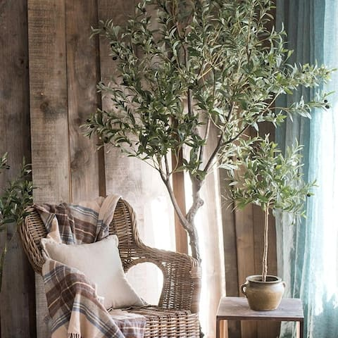 """RusticReach Large Artificial Olive Tree 94"""" Tall"""