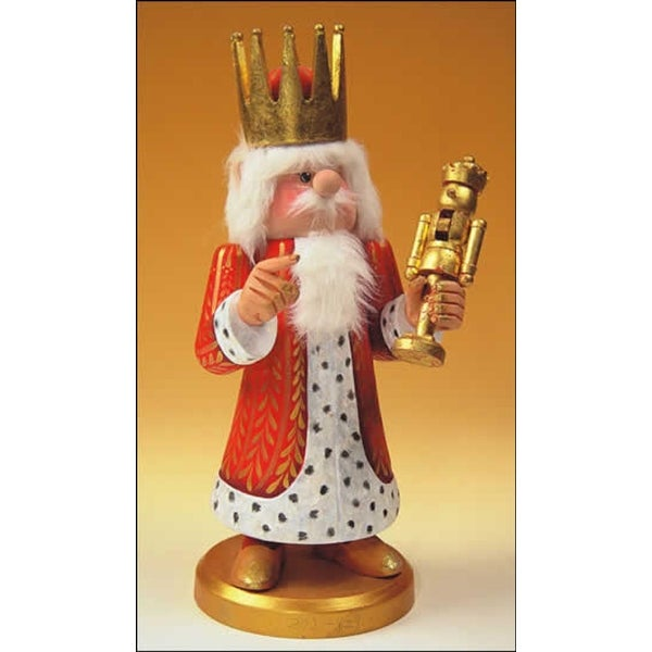 """13.5"""" Zims Heirloom Collectibles King Midas Christmas Nutcracker - RED"""