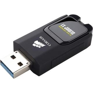 Corsair CMFSL3X1-16GB Corsair Flash Voyager Slider X1 USB 3.0 16GB USB Drive - 16 GBUSB 3.0 - Retractable, LED Light, Capless