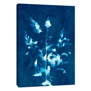 "PTM Images 9-109034  PTM Canvas Collection 10"" x 8"" - ""Cyanotype Plant 2"" Giclee Flowers Art Print on Canvas"