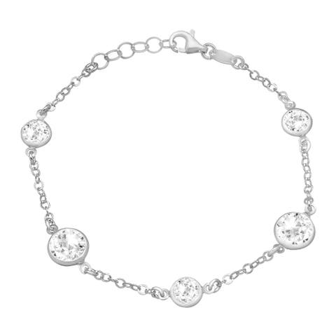 Crystaluxe Bracelet with White Crystals in Sterling Silver
