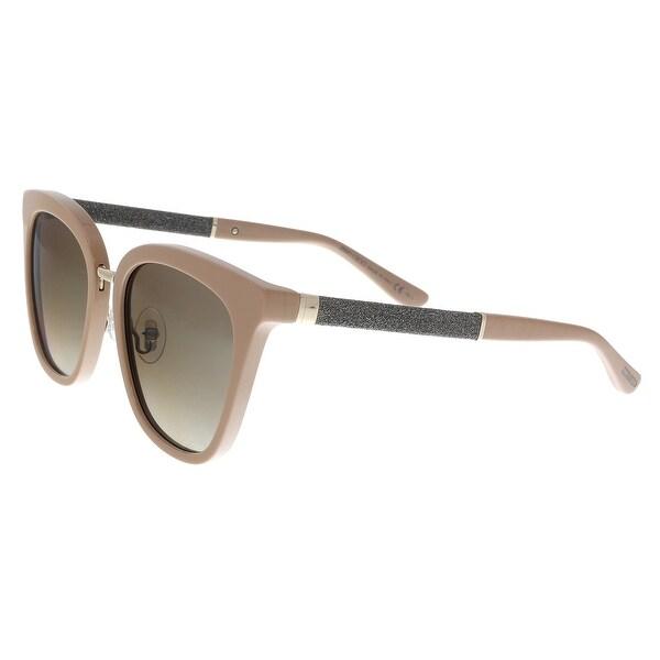3ec4c299242c Shop Jimmy Choo FABRY S KDZ Nude Glitter Cat Eye Sunglasses - no ...
