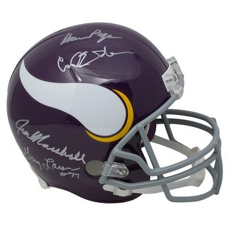 Purple People Eaters Signed Full Size Vikings Throwback Replica Helmet BAS
