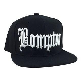Bompton City Black White Logo Snapback Hat Cap by CapRobot