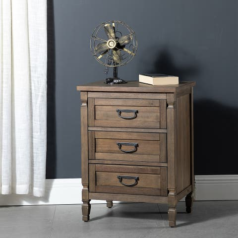 Anan 3-Drawer Wooden Nightstand
