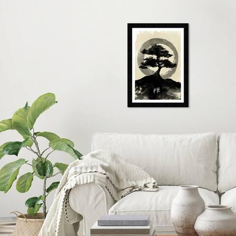 Wynwood Studio 'Ink Zen' World and Countries Black Wall Art Framed Print