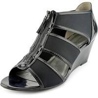Bandolino Opie Women  Open Toe Synthetic Black Wedge Sandal