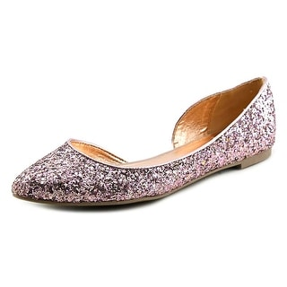 Material Girl Mizzy Women Pointed Toe Synthetic Pink Flats