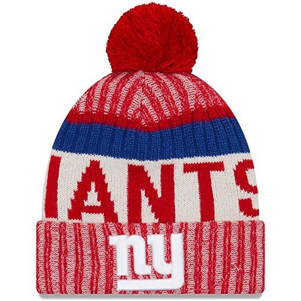 ef5c8a6fbfe Shop New Era Mens New York Giants 2017 Sideline Reverse Team Cold Weather  Sport Knit Hat