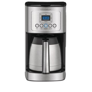 Cuisinart DCC-3400FR Programmable 12 Cup Thermal Coffeemaker, Stainless Steel, Certified Refurbished
