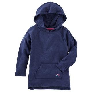 OshKosh B'gosh Little Girls' TLC Hooded Tunic, Navy, 4-Kids