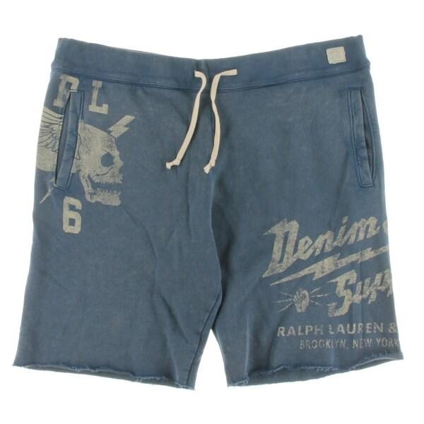 c9eef0b6ec4 Shop Denim & Supply Ralph Lauren Mens French Terry Cutoff Shorts Graphic  Drawstring - Free Shipping Today - Overstock - 19738632
