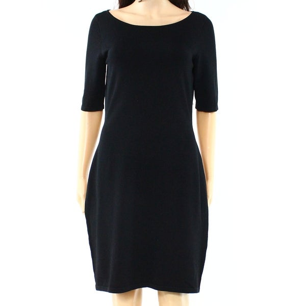 730c7b29d46 Shop Lauren Ralph Lauren NEW Black Women Size Medium M Knit Sheath ...
