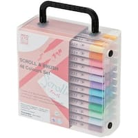 Zig Memory System Scroll & Brush Dual-Tip Markers 48/Pkg