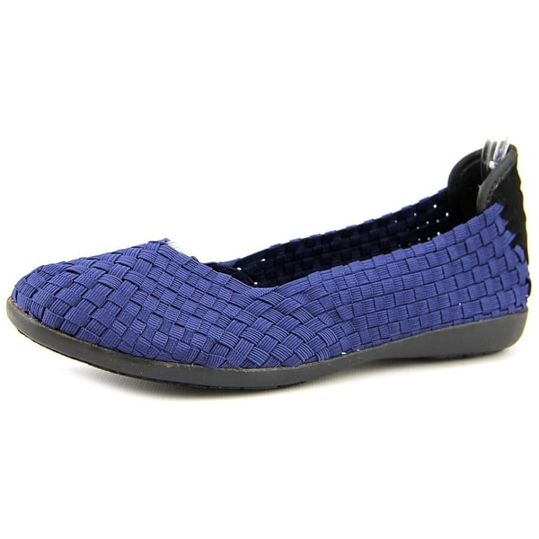 Wild Pair Barstow Women Round Toe Canvas Blue Flats