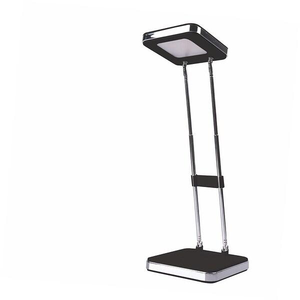 PureOptics® LED Telescoping Desk Lamp, LEDs, Glossy Finish, Adjustable Height, Folds Flat for Storage, 2.5W, 220 Lumens, Black