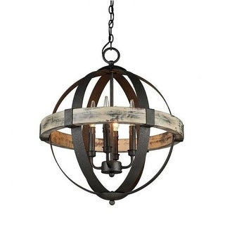 Castello 4 light wood orb chandelier free shipping today castello 4 light wood orb chandelier aloadofball Choice Image