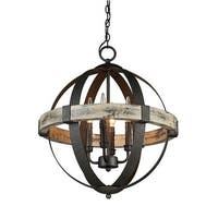 Parrot Uncle Castello Wood Orb 4-light Chandelier