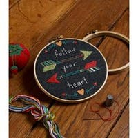 """6"""" Round - Arrows Stamped Embroidery Kit"""