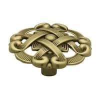 "Liberty Hardware P77200L-AB-U Round Weave Cabinet Knob 1-1/2"", Antique Brass"