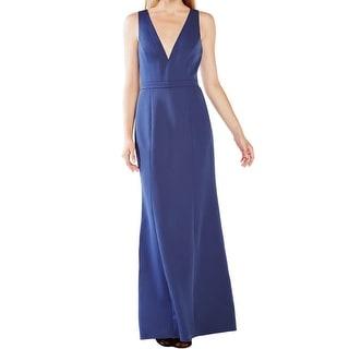 BCBG Max Aria NEW Dark Blue Womens Size 4 Empire Waist V-Neck Dress