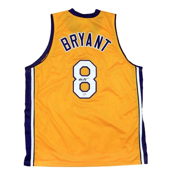 online store 7f72b 1ca04 Kobe Bryant Signed Custom Yellow Los Angeles Basketball Jersey PSA/DNA