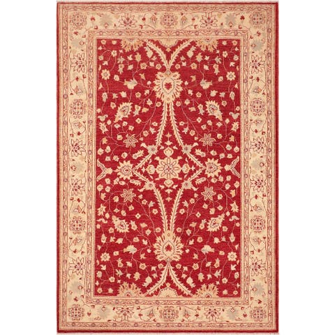 """Shabby Chic Ziegler Alvin Hand Knotted Area Rug -6'2"""" x 9'2"""" - 6 ft. 2 in. X 9 ft. 2 in."""