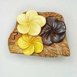 Handmade Art Intarsia Wooden Puzzle Box - Pansy Flower(167)
