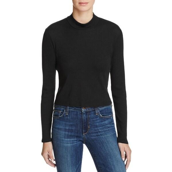 0695b8ca9e Shop Splendid Womens Turtleneck Top Ribbed Long Sleeve - Free ...