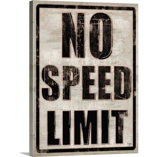 """No Speed Limit"" Canvas Wall Art"